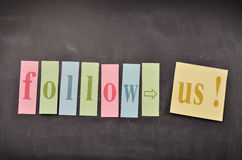 Follow us! Royalty Free Stock Images