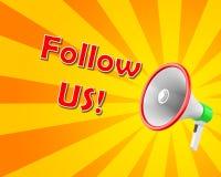 Follow us Stock Image