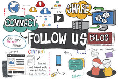 Follow us Follower Join us Social Media Concept Royalty Free Stock Photography