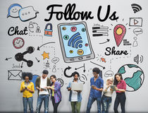 Follow us Follower Join us Social Media Concept stock image