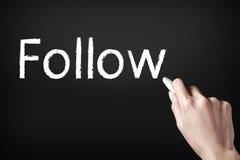 Follow us Stock Images