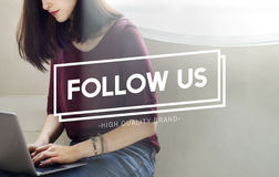 Follow Us Join Social Media Network Concept Stock Images