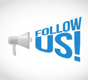 Follow us message concept sign Stock Image