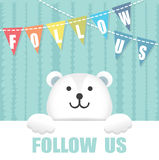 Follow Us Polar Bear Stock Photography