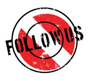 Follow Us rubber stamp Royalty Free Stock Image