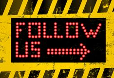 Follow us sign Royalty Free Stock Photography