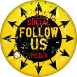 Follow us sign Stock Photography