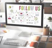 Follow Us Social Network Connect Social Media Concept Royalty Free Stock Photo