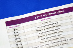 Follow the work out plan. To keep fit Royalty Free Stock Image