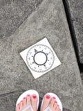 Follow your compass Stock Image