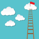 Follow your dream, ladder and cloud illustration. Follow your dream, ladder and cloud Royalty Free Stock Images