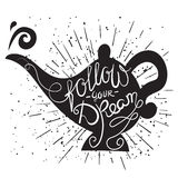 follow your dream -  lettering poster. Royalty Free Stock Photography