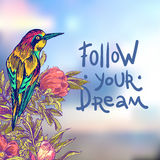 Follow your dream. Royalty Free Stock Photography