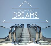 Follow your dreams concept with stairs Royalty Free Stock Photo