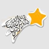 Follow your dreams. Handwritten font. Vector illustration stock illustration