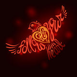 Follow your heart background.Hand drawn inspiration lettering. Stock Photo