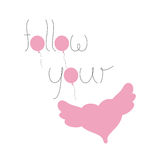 Follow your heart lettering Stock Photo