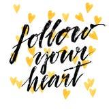Follow your heart - modern calligraphy phrase Stock Photos