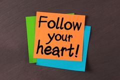Follow Your Heart Royalty Free Stock Photos