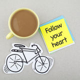 Follow Your Heart Phrase Note Stock Photo
