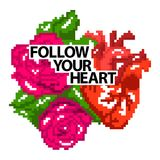 Follow your heart. Stock Photography