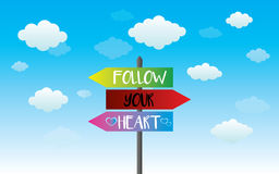 Follow your heart sign Stock Photos