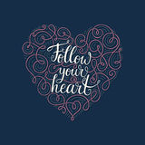 Follow Your Heart Royalty Free Stock Photography