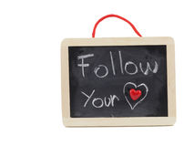 Follow your heart Royalty Free Stock Photo