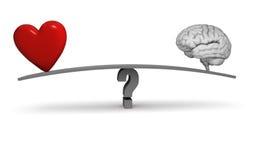 Follow Your Heart Or Your Head? Stock Photos