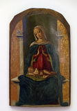 A follower of Bartolomeo Vivarini: Madonna and Child. The first half of the 16th century, exhibited in the Museum of Arts and Crafts in Zagreb Royalty Free Stock Images