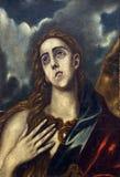 Follower of Domenico Theotocopuli El Greco: St. Mary Magdalene Stock Images