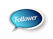 Follower message communication bubble Stock Image