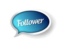 Follower message communication bubble Stock Image