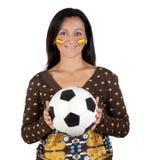 Follower of the Spanish soccer team Stock Photo