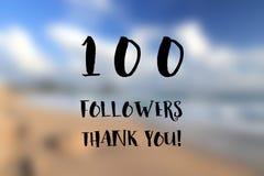 100 followers banner