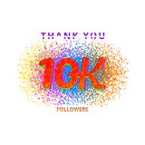 10000 followers on white background. 10000 followers card. Thank you 10K followers banner on white background. Simple illustration Royalty Free Illustration