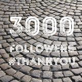 3000 followers. Company social media account thank you note. 3k fans Royalty Free Stock Photography
