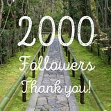 2000 followers. Company social media account thank you note. 2k fans Royalty Free Stock Image
