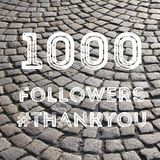 1000 followers. Social media celebration banner. 1k online community fans Royalty Free Stock Photography