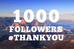 1000 followers sign royalty free stock images