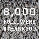8000 followers