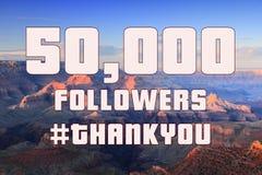 50000 followers