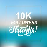 10000 followers thanks. Congratulations card template. Network banner. Social media. Vector illustration Royalty Free Stock Image