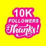 10000 followers thanks Stock Photos