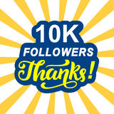 10000 followers thanks Stock Image