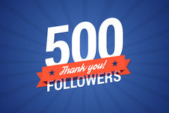 500 followers vector illustration. 500 followers. Vector illustration in flat style stock illustration