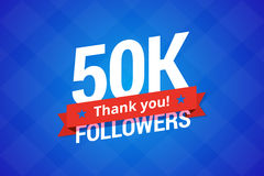 50000 followers vector illustration. 50000 followers. Vector illustration for social networks Royalty Free Stock Image