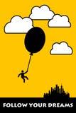 Following dreams stock illustration