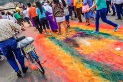 Following Good Friday procession, Antigua, Guatemala royalty free stock images