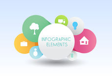 Following infographics banner vector business Stock Photography